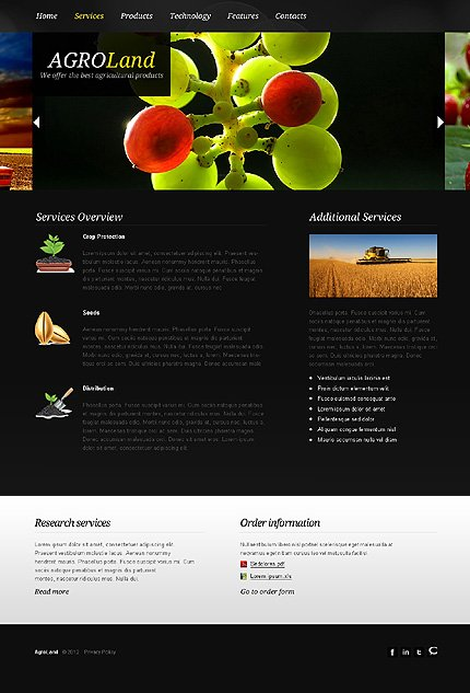 Template 38807 ( Services Page ) ADOBE Photoshop Screenshot