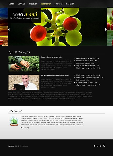 Template 38807 ( Technology Page ) ADOBE Photoshop Screenshot