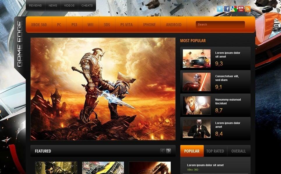 Template Siti Web  #38812 per Un Sito di Portale di Giochi New Screenshots BIG