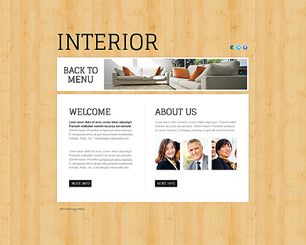 Template 38816 ( About Page ) ADOBE Photoshop Screenshot