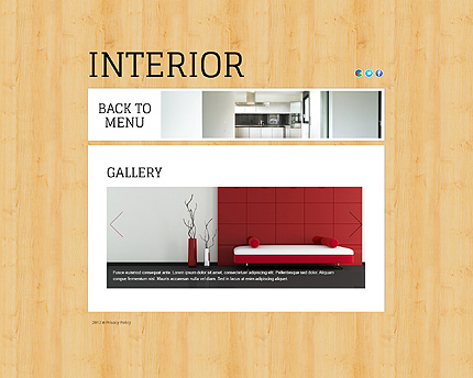 Template 38816 ( Gallery Page ) ADOBE Photoshop Screenshot