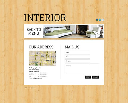 Template 38816 ( Mail us Page ) ADOBE Photoshop Screenshot