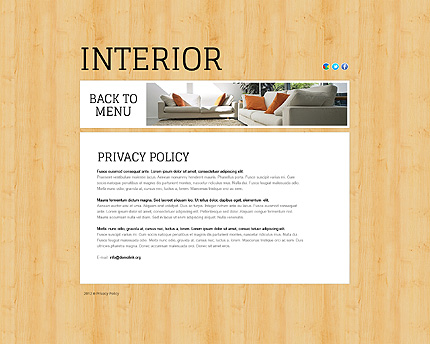 Template 38816 ( Privacy Policy Page ) ADOBE Photoshop Screenshot