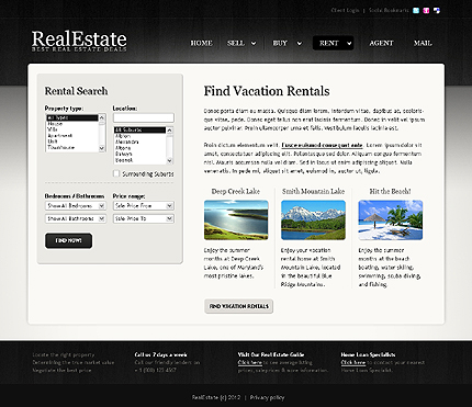 Template 38841 ( Rent Page ) ADOBE Photoshop Screenshot