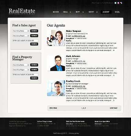 Template 38841 ( Agent Page ) ADOBE Photoshop Screenshot