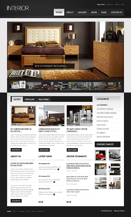 Drupal Template 38849 Main Page Screenshot