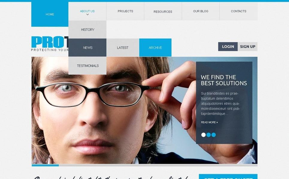 Drupal Template over Advocatenkantoor  New Screenshots BIG
