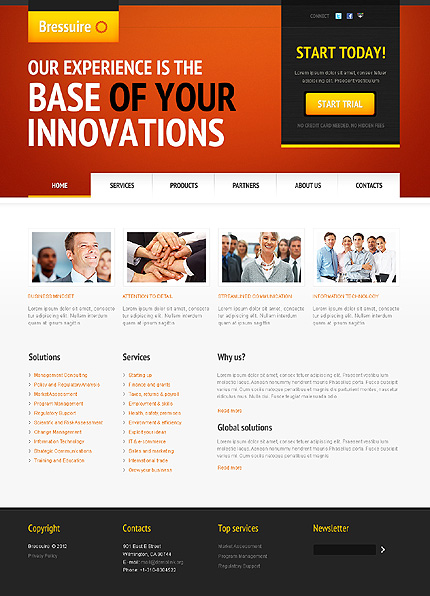 Joomla Theme/Template 38851 Main Page Screenshot