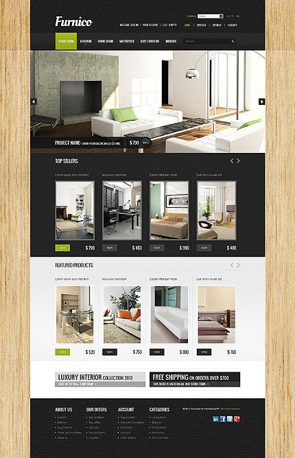ADOBE Photoshop Template 38853 Home Page Screenshot