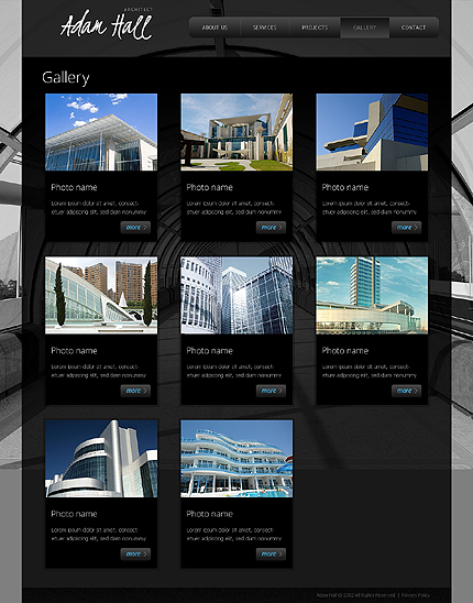 Template 38868 ( Gallery Page ) ADOBE Photoshop Screenshot