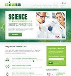 Science Website  Template 38873