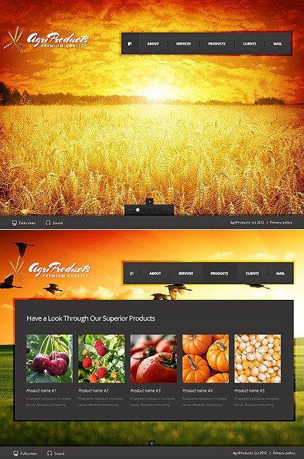 ADOBE Photoshop Template 38875 Home Page Screenshot