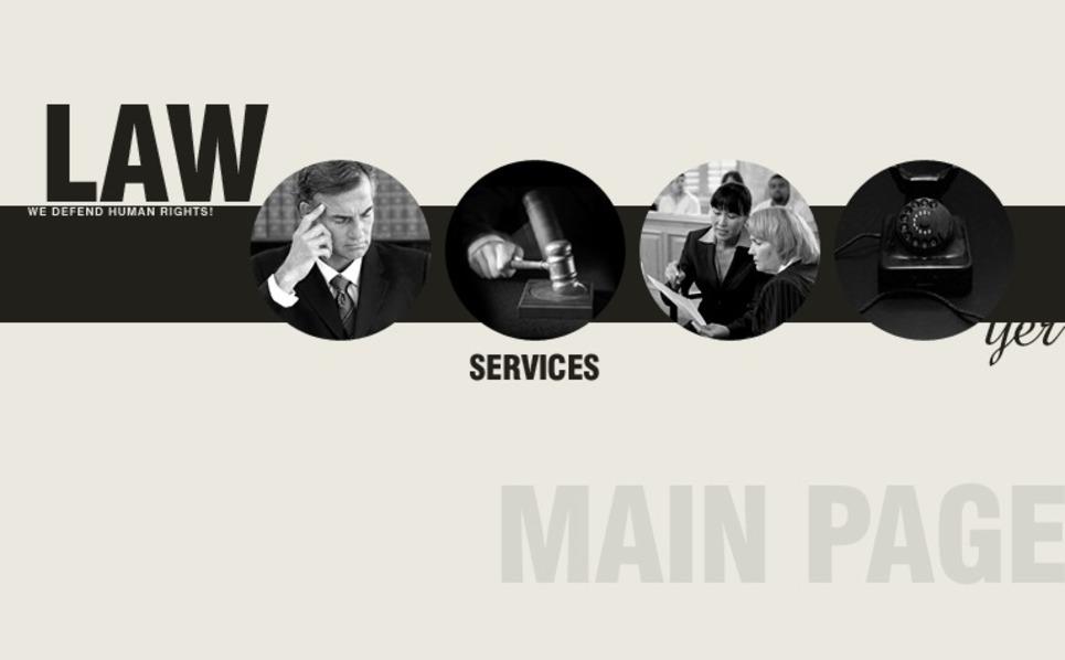 Modèle Flash CMS  pour site de droit New Screenshots BIG