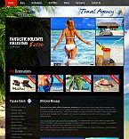 Travel Flash CMS  Template 38879