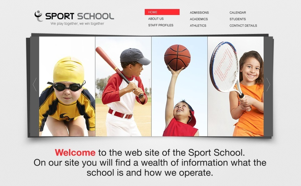 Szablon Flash CMS #38882 na temat: sport New Screenshots BIG