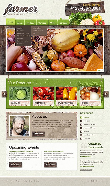 ADOBE Photoshop Template 38884 Home Page Screenshot