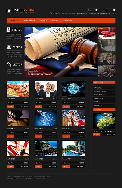 osCommerce Template 38885 Main Page Screenshot