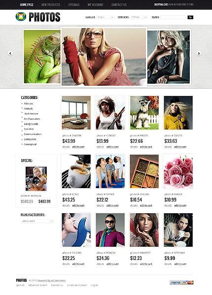 osCommerce Template 38895 Main Page Screenshot