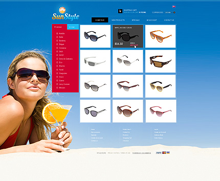 osCommerce Template 38896 Main Page Screenshot