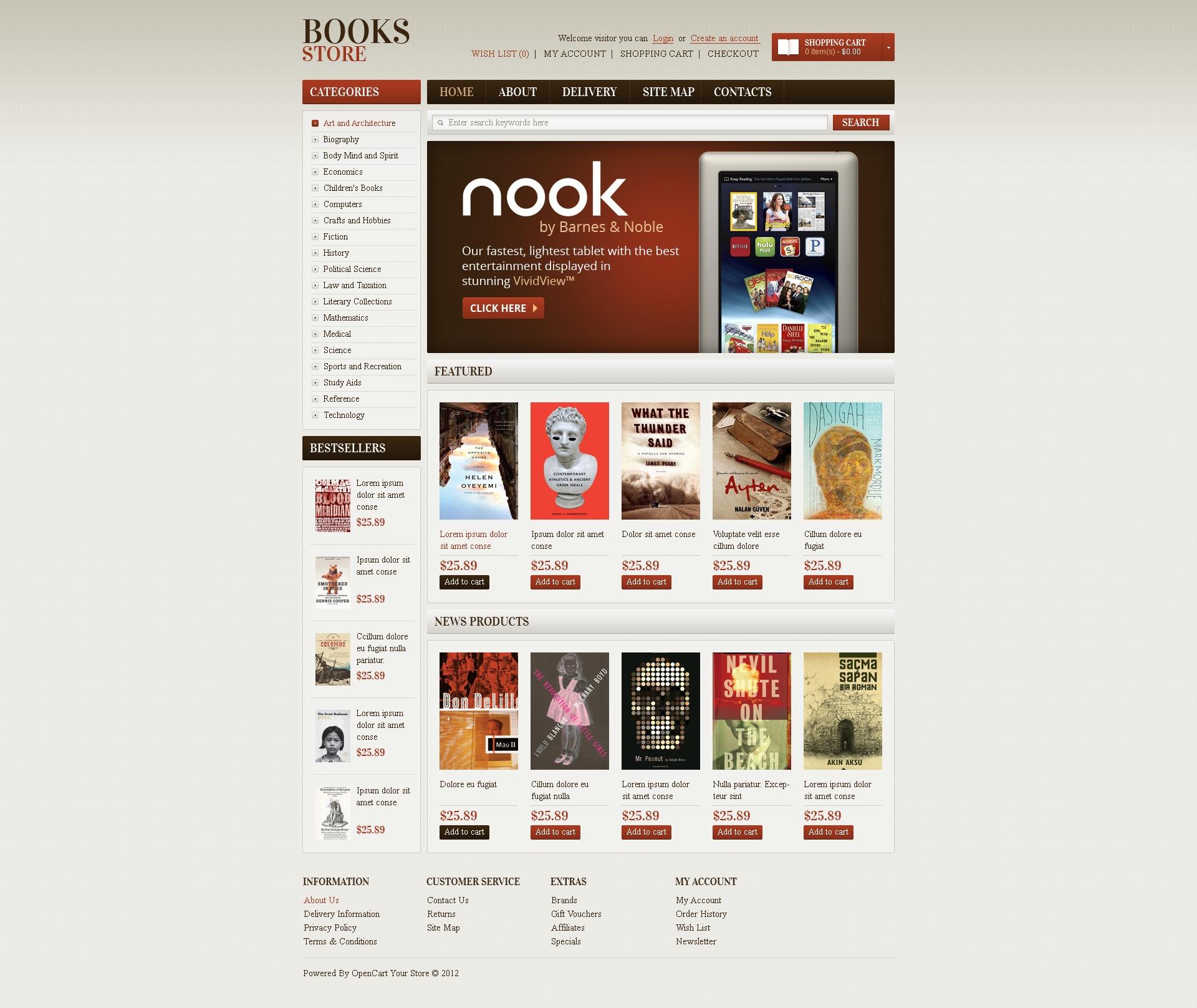 opencart bookstore template.html