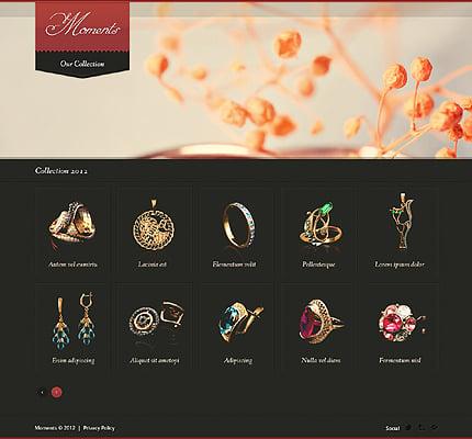 Jewelry Website Template Website Templates Zeronese - Jewellery website templates