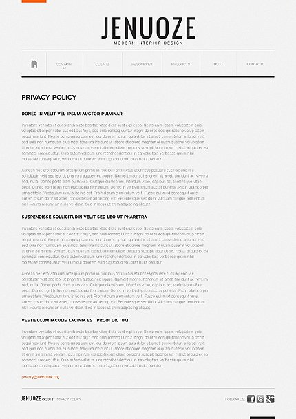 Template 38902 ( Privacy Policy Page ) ADOBE Photoshop Screenshot