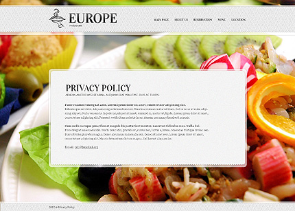 Template 38912 ( Privacy Policy Page ) ADOBE Photoshop Screenshot
