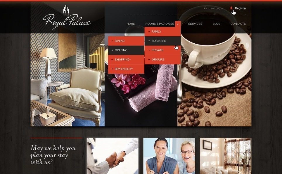 Joomla Template over Hotels  New Screenshots BIG