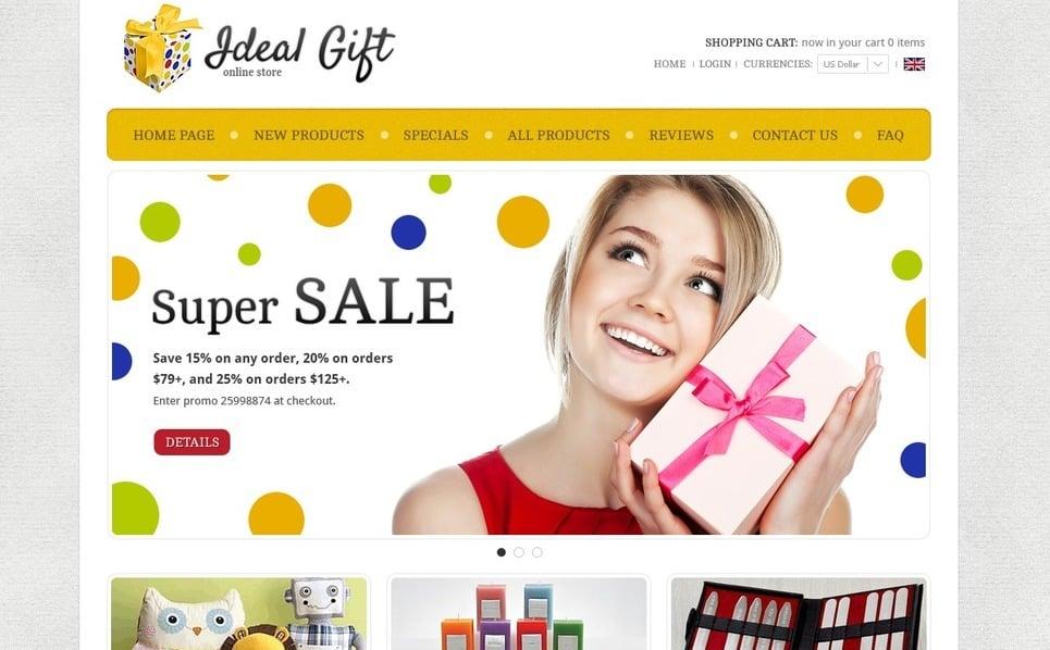 "ZenCart Vorlage namens ""Ideale Geschenke"" New Screenshots BIG"