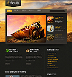 Agriculture Website  Template 38934