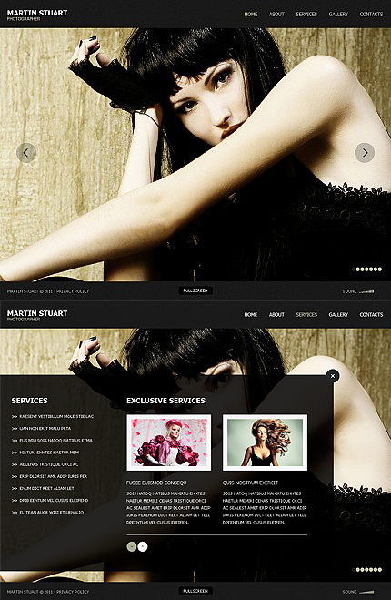 ADOBE Photoshop Template 38955 Home Page Screenshot