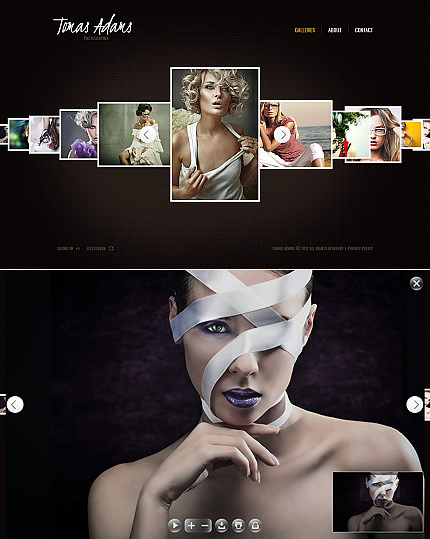 ADOBE Photoshop Template 38958 Home Page Screenshot