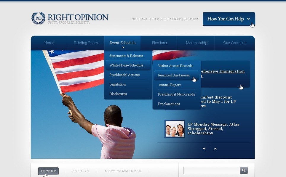 Modèle Web  pour site de nouvelles politiques  New Screenshots BIG