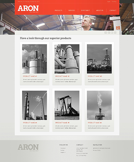 Template 38973 ( Products Page ) ADOBE Photoshop Screenshot