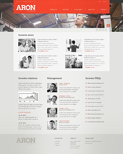Template 38973 ( Investment Page ) ADOBE Photoshop Screenshot