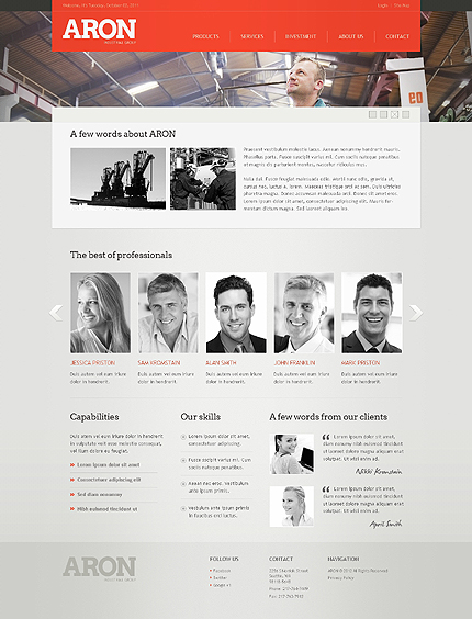 Template 38973 ( About Us Page ) ADOBE Photoshop Screenshot