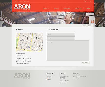 Template 38973 ( Contact Page ) ADOBE Photoshop Screenshot