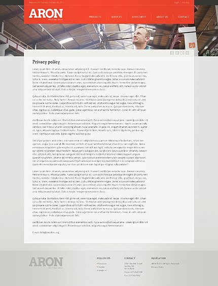 Template 38973 ( Privacy Policy Page ) ADOBE Photoshop Screenshot