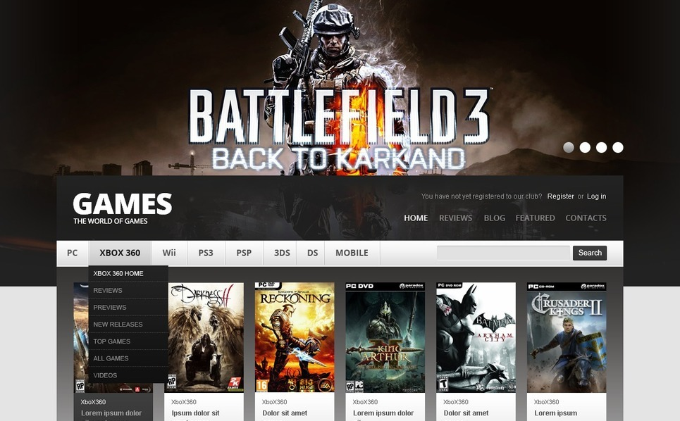 Drupal Vorlage für Spiele  New Screenshots BIG