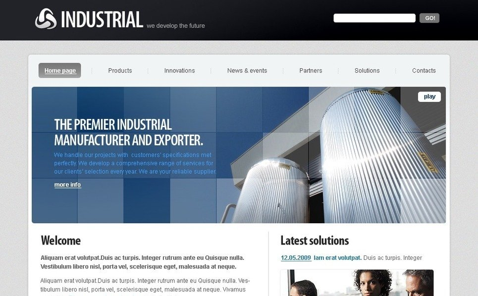Endüstriyel  Flash Cms Şablon New Screenshots BIG
