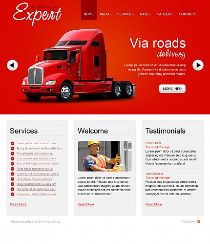 ADOBE Photoshop Template 38987 Home Page Screenshot