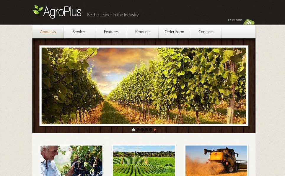 Flash CMS šablona Zemědělství New Screenshots BIG