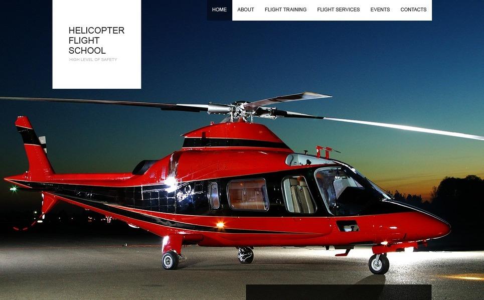 Flash CMS Vorlage für Flugschule  New Screenshots BIG