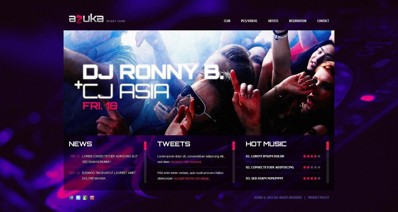 Night Club Website Template #38915