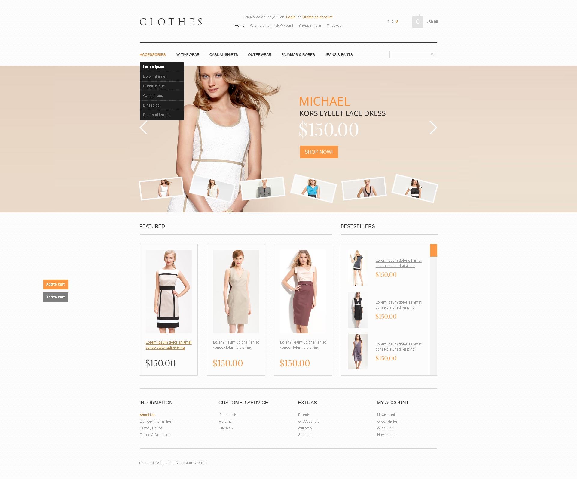 OpenCart шаблон  38940 на тему магазин одежды от TemplateMonster 98e362247ad