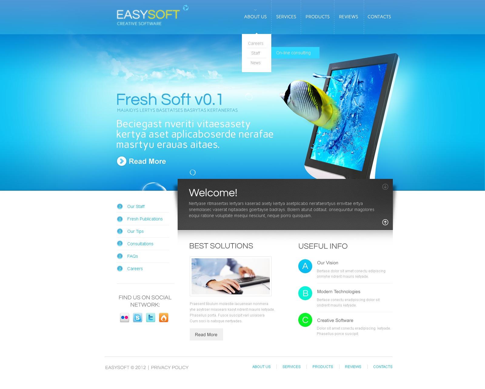 Software Company Wordpress Theme 38931