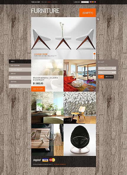 ADOBE Photoshop Template 39005 Home Page Screenshot