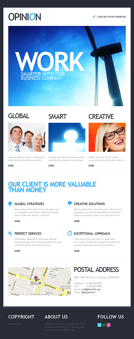 ADOBE Photoshop Template 39015 Home Page Screenshot