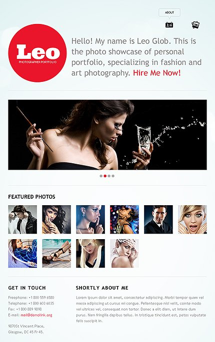 ADOBE Photoshop Template 39017 Home Page Screenshot
