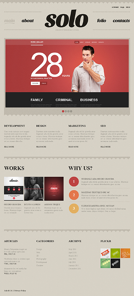 Joomla Theme/Template 39043 Main Page Screenshot